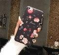 Новые Красивые Розы цветы Кремния ТПУ Мягкая Вернуться Обложки Case для iPhone 6 6 s Plus Коке Fundas для iPhone Случаях бесплатная доставка
