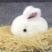 2016 New Gift Cute Rabbit Real Mink Fur Ball bunny Keychain Car Key Chain Ring Pendant For Bag Charm