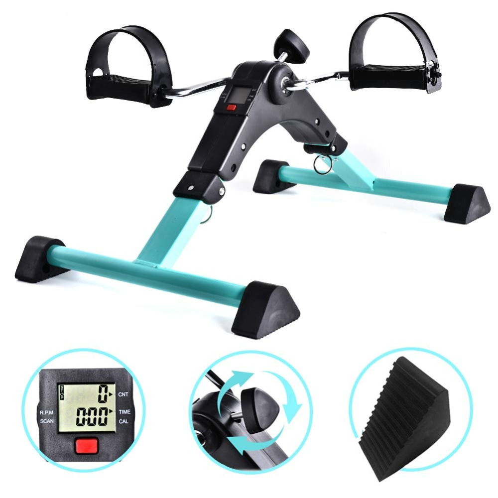 Portable Pedal Exerciser Under Desk Exercise Machine Arm Leg Exercise Peddler Low Impact Exercise Bike For Seniors Elderly
