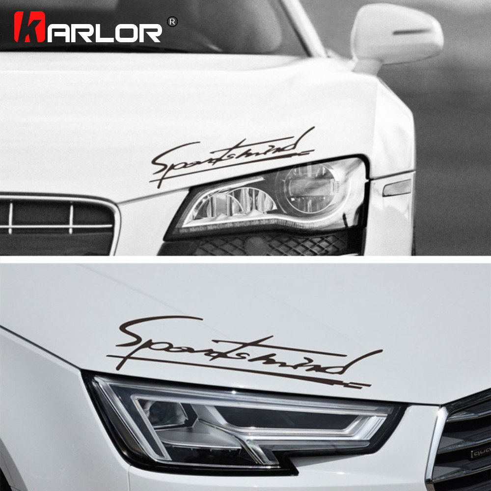 Personality 'Sports Mind' Car Stickers Car Hood Light Eyebrow Decals Reflective Decoration Automobiles Car Accessories Styling