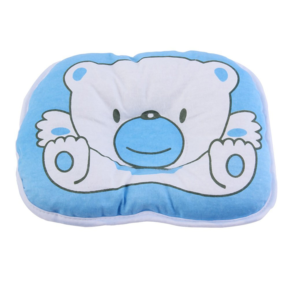 1PC Newborn Cartoon Cute Bear Pillows Infant Baby Soft Support Cushion Pad Prevent Flat Head Pillow