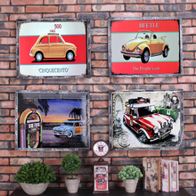 Car Vintage Metal Plate Tin Signs Wall Poster Decals Painting Bar Club Pub Home Decor 30x20cm 1001(954)