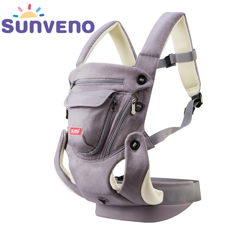 SUNVENO Ergonomic Baby Carrier Breathable Front Facing Infant Baby Sling Backpack Pouch Wrap Baby Kangaroo For