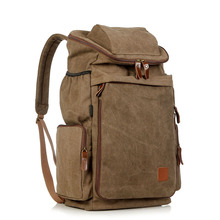 Men/Women hicking backpacks vintage canvas bags 35L mochila masculina Casual male travel Backpack free shipping