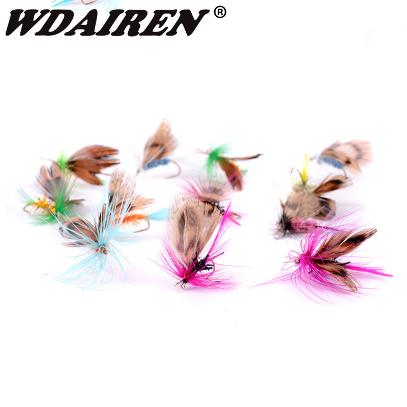 12Pcs/Set Insects Flies Fly Fishing Lures Bait High Carbon Steel Hook Fish Tackle With Super Sharpened Crank Hook Fishing Tackle 2
