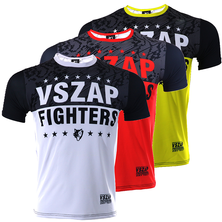 VSZAP Combat Gym Shirt MMA Fight  Running High Elastic Wind Movement Male