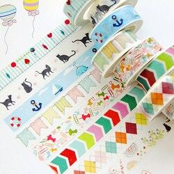 1Pcs Diy Candy Hot Flower Tape Decoration Roll Diy Washi Decorative Sticky Paper Masking Tape Self Adhesive Tape Scrapbook Tape