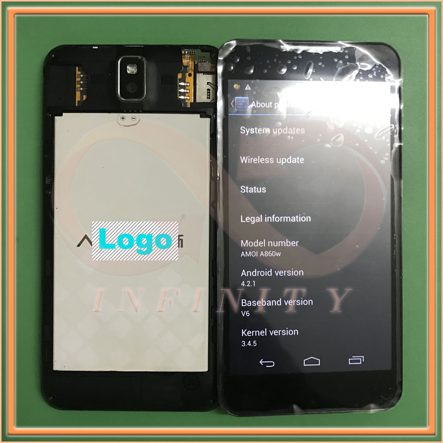 IN Stock 100% Tested Original 5.0inch For Amoi A860W LCD Display Screen+Touch Panel Digitizer With Frame(Not new)