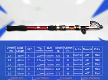 Cheap Telescopic Fishing Rod And Reel Combo 2.1m 2.4m 2.7m 3.0m 3.6m With 4000 Series Spinning Fishing Reel And Bag Accessories