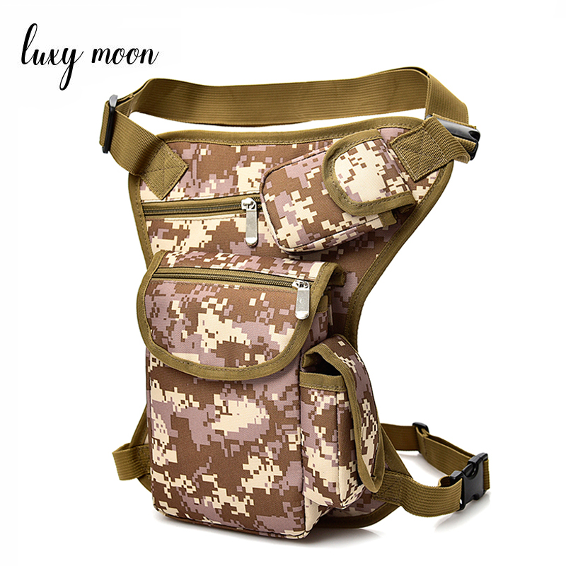 Camouflage Men Canvas Military Travel Motorcycle Bicycle Riding Fanny Pack Waist Thigh Drop Leg Bag Unisex Waist bags W700 multifunctionl men camouflage nylon waist bag belt bag portable men s waist bag men thigh leg drop travel riding fashion bags