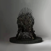 17cm the Iron Throne Sword Chair Model in GAME OF THRONES Action Figure Collection Toys Christmas Gift [funny] collection crafts sword of the berserk nosferatu zodd fushi no zoddo figure statue bust dragon mountain resin model gift