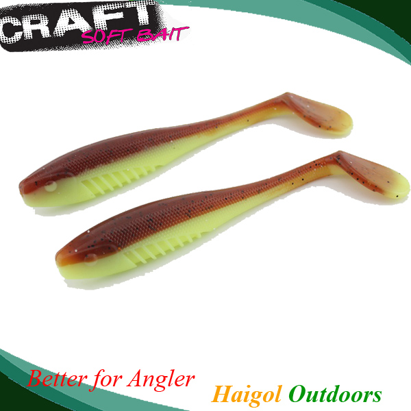 Big shad eco-friendly material soft fishing lure zander fishing bait walley soft lure--13cm*4pcs #J1501-130 mix color package on soft lure 15 cm shad bait soft bait for boat fishing