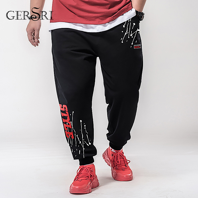 Gersri 7XL Casual Harem Pants Fashion Styel Men Jogger Pants Men Fitness Trousers Male Loose Man Summer Pants Boy Teenager