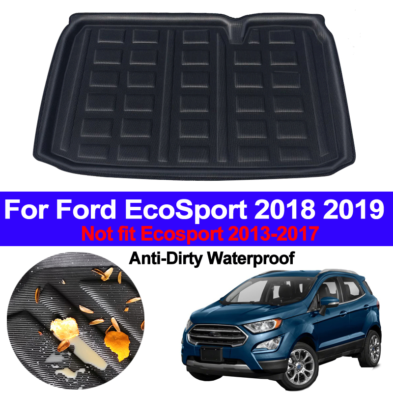 Car Auto Rear Boot Cargo Liner Trunk Floor Mat Carpets Luggage Tray Mats Pad Mat Carpet For Ford EcoSport 2018 2019 Car Styling