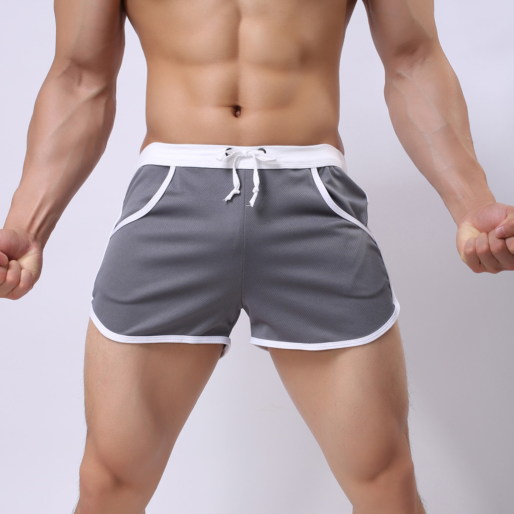 Mens Casual Beach Shorts Polyester Hipster Polar Owls Pattern Swimsuit with Pockets