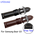 Smart Watch bands 22mm Genuine Leather Wristband For Samsung Gear S3 Classic/Forntier Bracelet