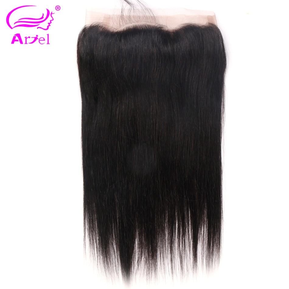 Ariel Lace-Frontal-Closure Human-Hair Free-Part Hair-360 Straight Non-Remy Peruvian