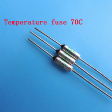 Free ship 100pcs Temperature fuse 70C 10A 250V RY70 Temperat
