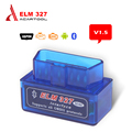 Super MINI Bluetooth ELM327 V1.5 OBD2 ELM 327 Bluetooth With Android Torque OBD Car Code Scanner free shipping