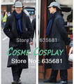 Cos Sherlock Holmes Long Trench Woolen Coat Jacket Cosplay Costume Men Women Winter