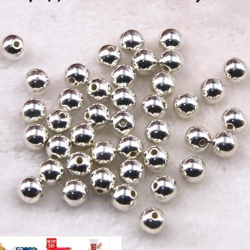 Оптовая продажа Палочки Размеры 4.6.8.10.12mm ABS Цвет серебряные имитация жемчуга Бусины Круглый Loose Бусины для DIY браслет решений