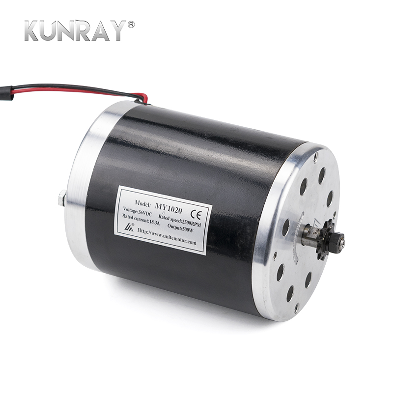 MY1020 500W 24V 36V 48V DC High Speed Brush Motor For Electric Bicycle Scooter E-Bike Dirft Bike Motors Mid Drive Without Foot