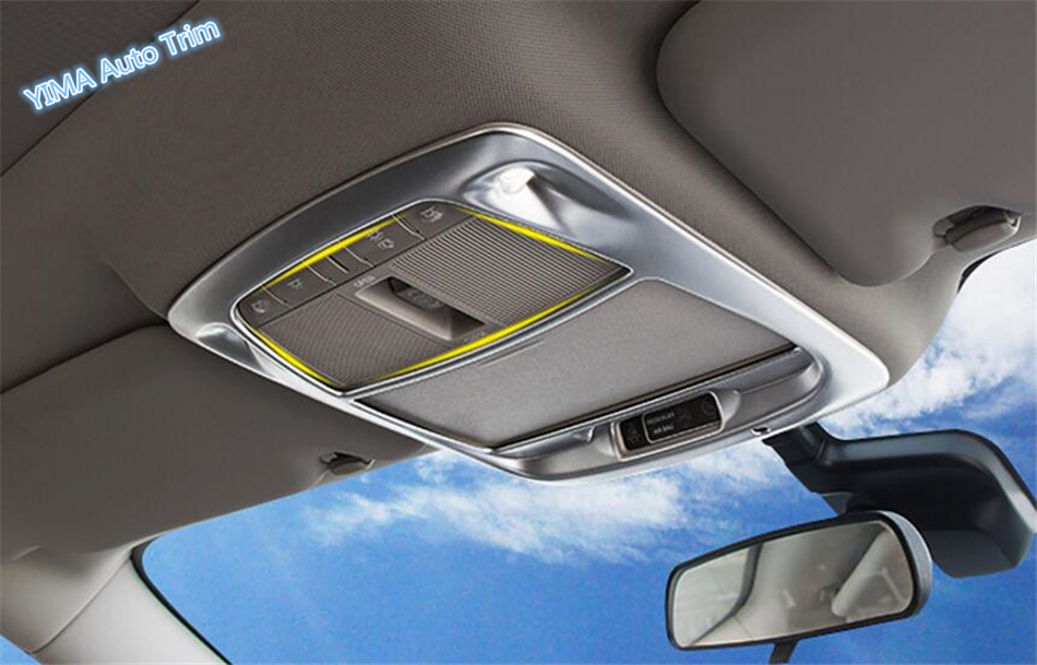 Lapetus Interior ! ABS / Front Roof Reading Lamp Light Molding Cover Decoration Trim 1 Piece For Renault Koleos 2017 2018