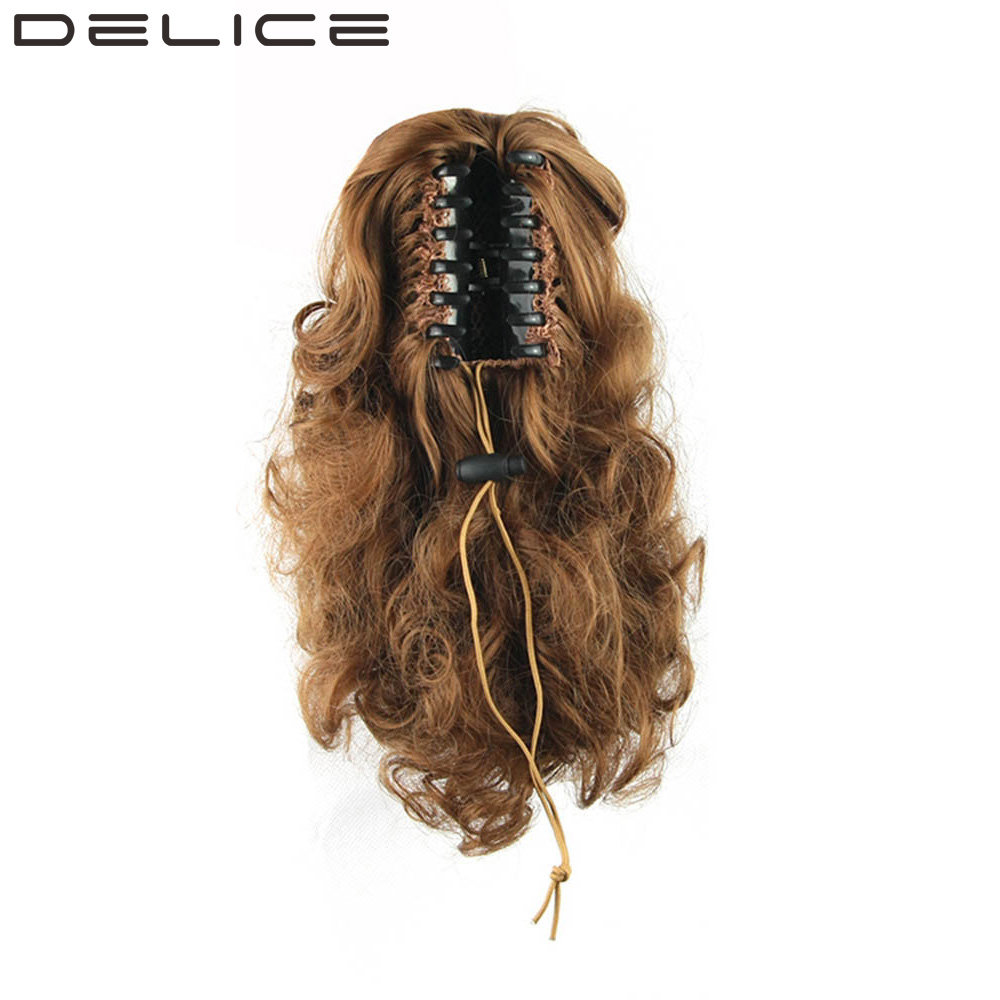 DELICE 34cm 13inch Women s Curly Claw High Temperature Fiber Synthetic Hair Short Ponytail