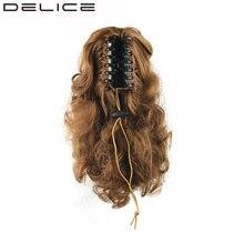 [DELICE] 34 см/13 дюйма женская Вьющиеся Коготь Высокая Температура Волокна Синтетические Волосы Короткие Хвост