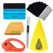 CNGZSY Car Sticker Vinyl Foil Wrap Tools Contour Squeegee Corner Scraper Film Cutter Art Knife Car Styling Auto Accessories K23