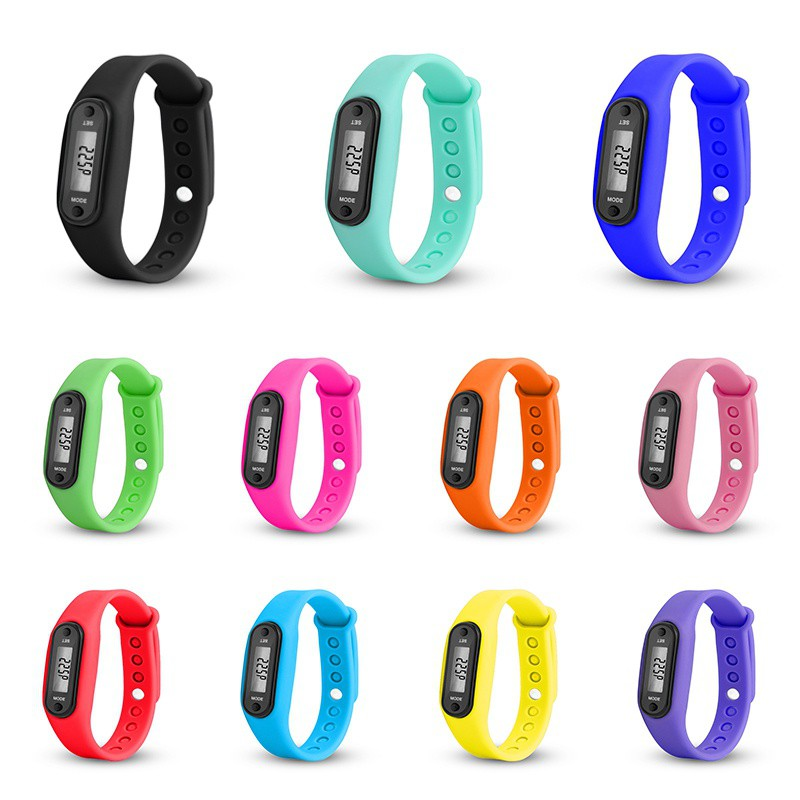 Newest Wrist Sport Watch Band  Pedometer Run Step Distance Calorie Counter Fitness Gauge Step Tracker Digital LCD Pedometer