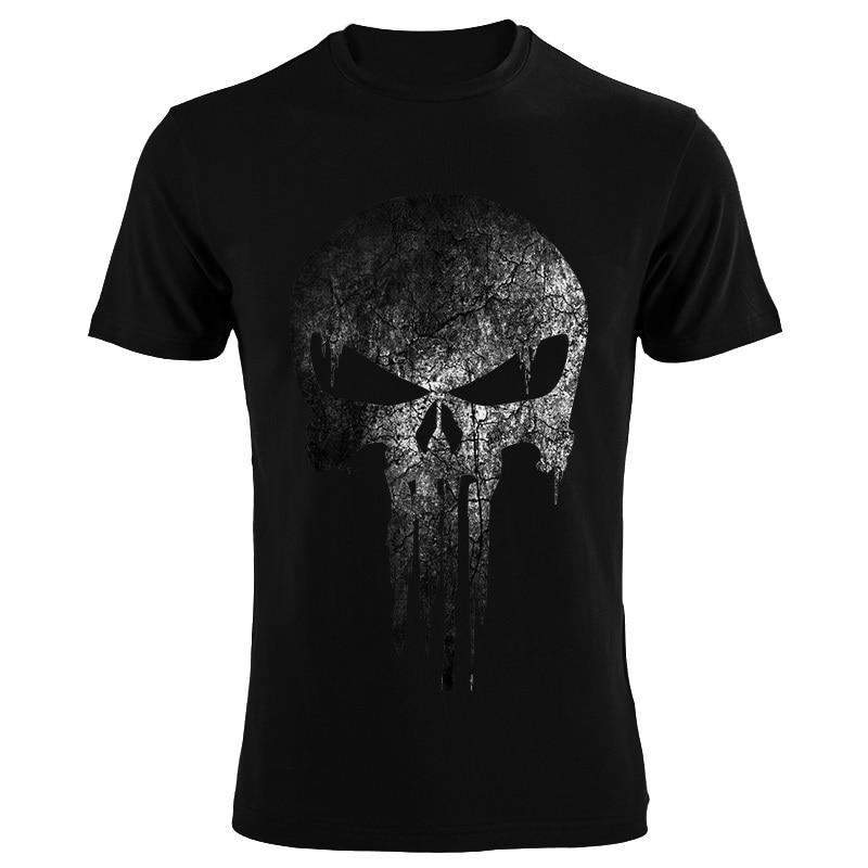 The Punisher Skull Men Fashion T Shirt Print Marvel Comics