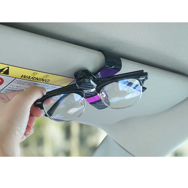 8f51ecc6c25 ... Car Sun Visor Sunglasses Holder Eyeglasses Clip Portable Fastener Clip  Ticket Card Clamp Fastener Clip ABS ...