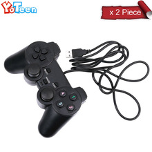 2Pcs Professional Wired USB Gamepad Gaming Game Controller Joystick Control PC Computer Game Console Laptop Notebook Game Pad