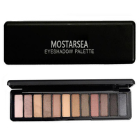 Brand Makeup Mostarsea 12 Colors Shimmer Matte Naked Eye Shadow Palette Neutral Glitter Smoky Eyeshadow Maquiagem