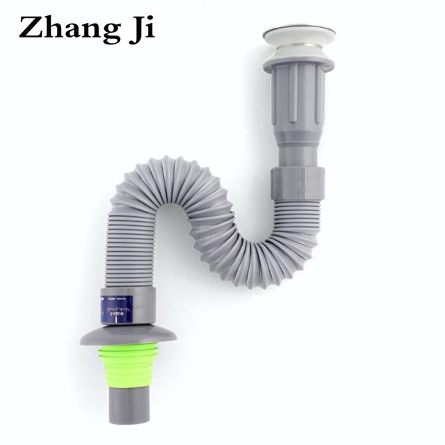 zhang ji kitchen sink drain strainer flexible waste water quality plastic integrated drain hose bathroom accessory - Kitchen Sink Drain Strainer