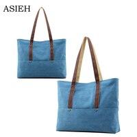 Top Quality Fashion Canvas Bag Shoulder Bag Large Capacity Handbags Simple Durable Shopping Bag Beach Casual