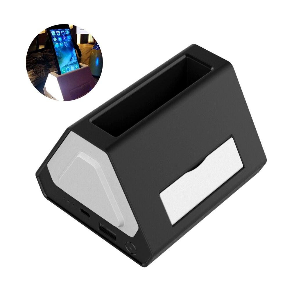 Ledgle творческий ночник Компактная настольная лампа просто ночники с Цвет изменение Функция, многоцелевой Дизайн черный