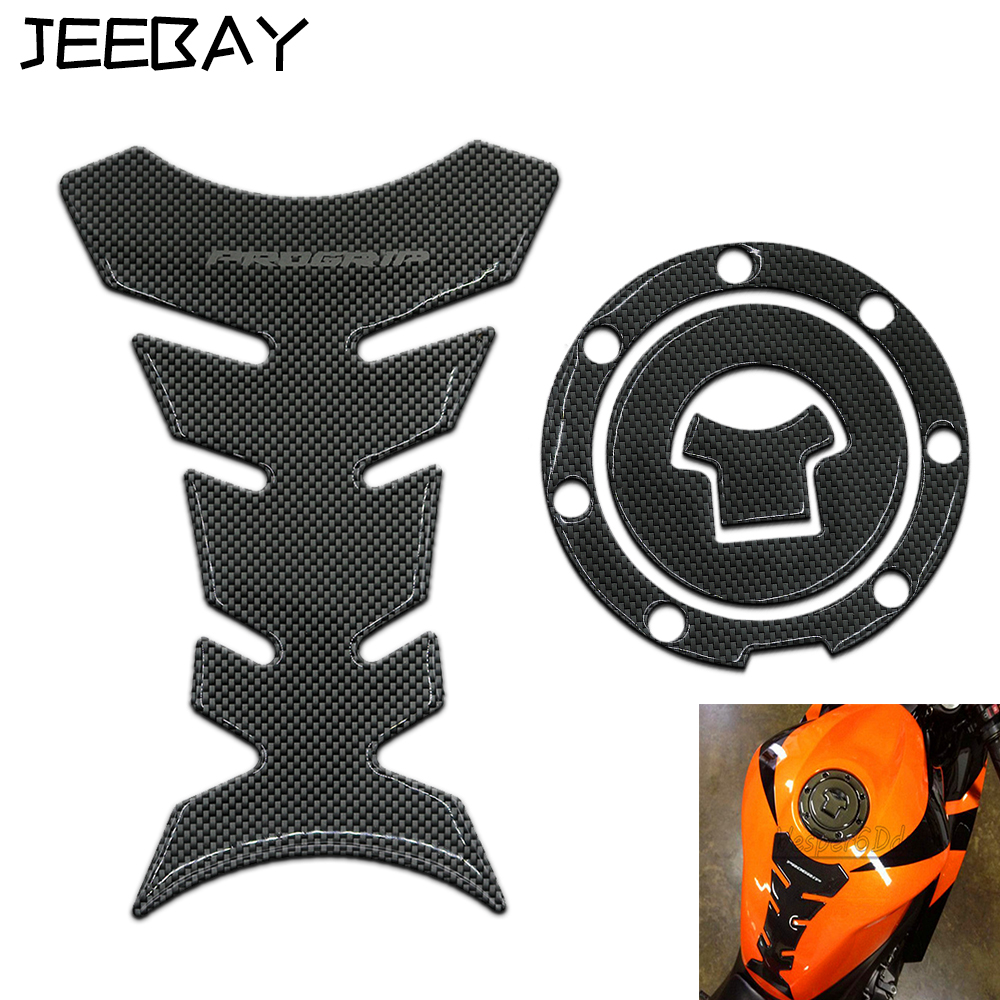 Carbon Fiber Tank Sticker Motorcycle Fuel Gas Cap Cover Tank Pad Decal Protector Stickers For Honda CBR NSR VTR 125 250 400