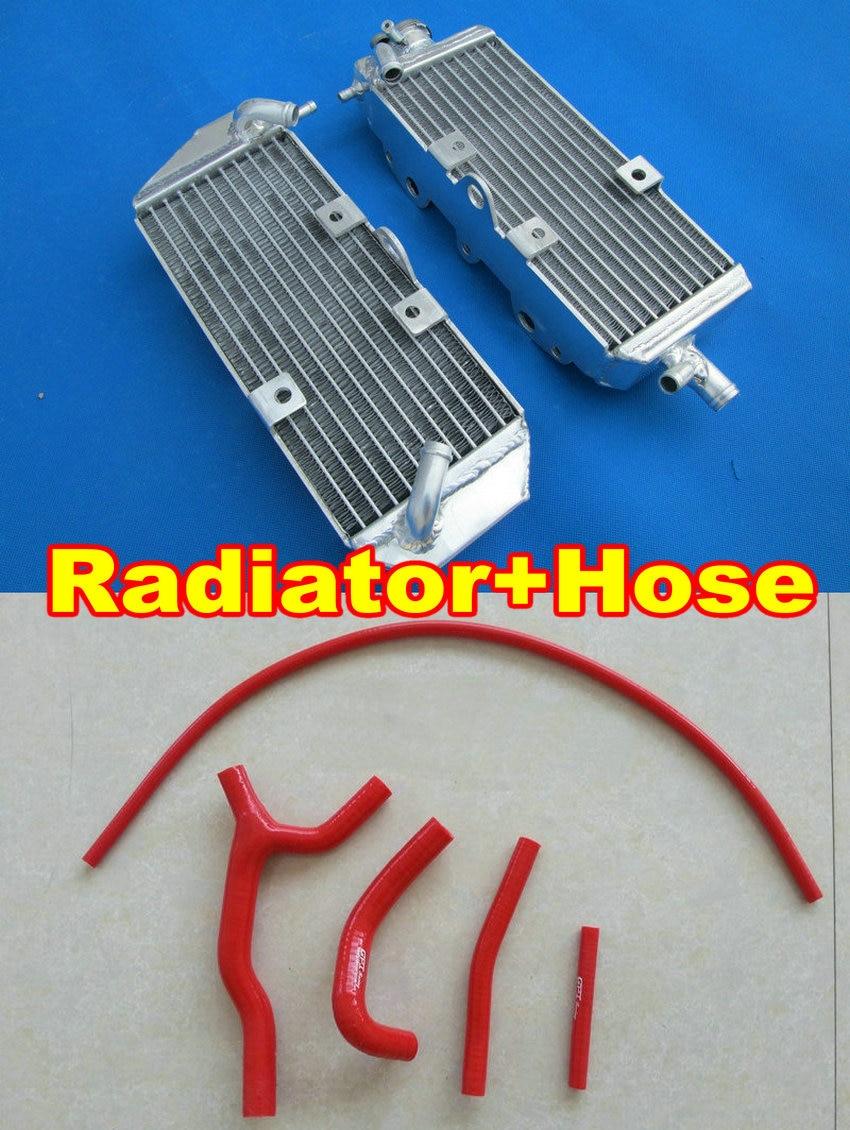Aluminum radiator red hose for SUZUKI RM125 1996 1997