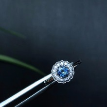 Natural sapphire ring, classic style, perfect quality gemstone, 925 silver, especially recommended