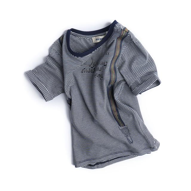 En la primavera de 2017 nuevos Niños Muchachos de la camiseta t-shirt de tocar fondo en el niño niños bebé camisa a rayas blusa