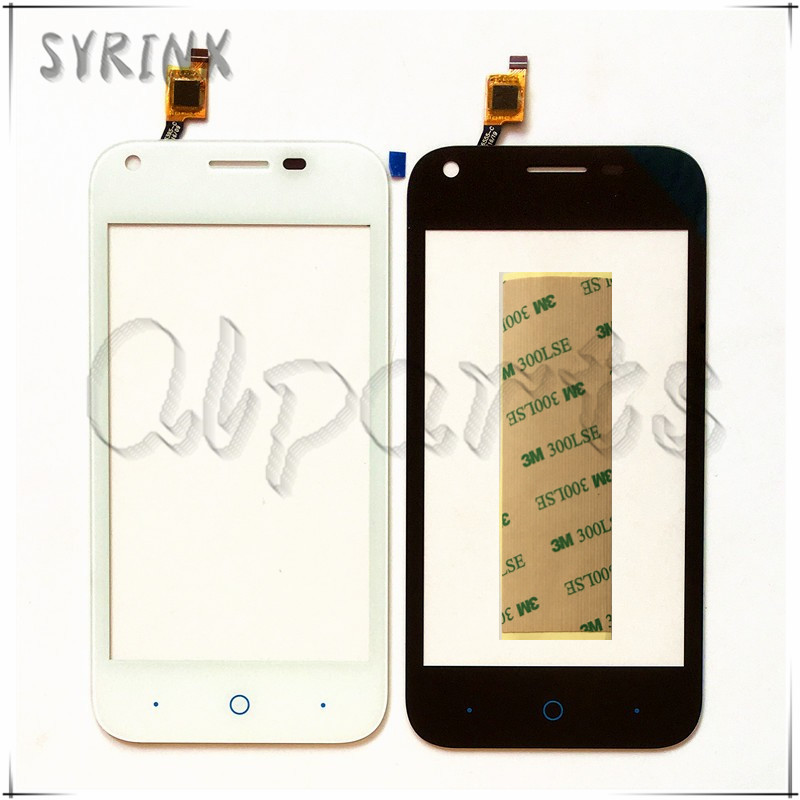 Syrinx With 3M Stickers Mobile Phone Touch Panel Sensor Touchscreen For zte L110 Touch Screen Digitizer Front Glass Replacement