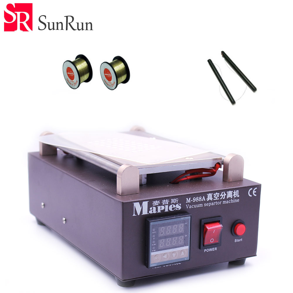 Latest 110V/220V Mobile phone Built-in Pump Vacuum Metal Body Glass LCD Screen Separator Machine Max 7 inches + Free gifts 2sets lot lcd separator machine 950 v 3 220v 110v with built in air pump free txa to europe