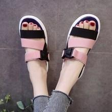 Women Summer Sandals Shoes Stretch Fabric Peep-toe