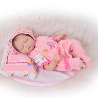 2016 Latest 22 Inch Soft Silicone Reborn Babies Twins Realistic Newborn Sleeping Girl And Awake Boy