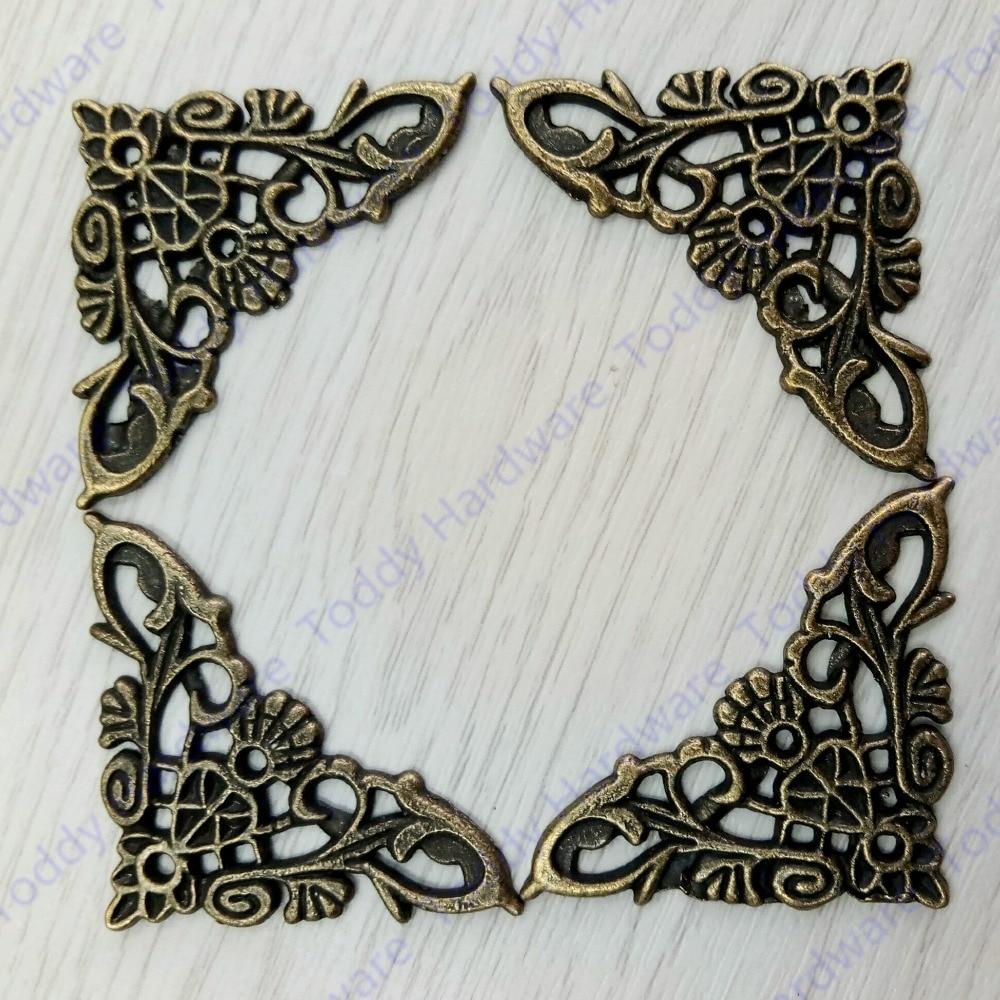 4pcs Jewelry Box Protector Decoration Corner Bracket Antique Frame Book Menus Butterfly Protector daikin ftxb 35 c rxb 35 c