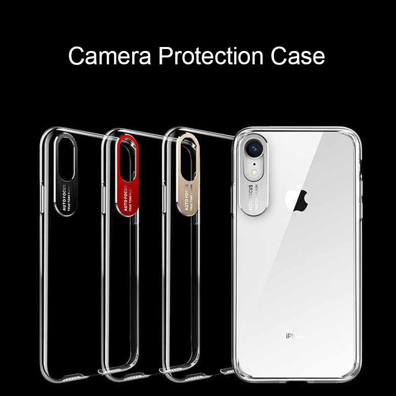 Shockproof Transparent Auto Focus Phone Case For iPhone XS MAX XR X 10 6s 7 8 Plus 8Plus 7Plus Full Protection Camera Lens Cover(China)