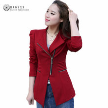 Spring Autumn Slim Women Blazer Coat 2019 Casual Long Sleeve Zipper Suit Jacket Female Blazers Jaqueta Feminina Outwear Okd111(China)