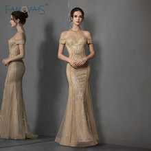 Sexy Mermaid Evening Dress Long Off the Shoulder Beaded Formal Evening Gown Paty Gown Prom Dress 2019 Vestido de Fiesta NE89